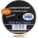 Cable Altavoz 2x0.75mm 100m (transparente) - CAB-311654