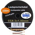 Cable Altavoz 2x1.50mm 100m (Transparente) - CAB-311660