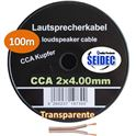 Cable Altavoz 2x4mm 100m (transparente) - CAB-311669