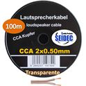 Cable Altavoz 2X0.50mm 100m (Transparente) - CAB-311754