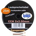 Cable Altavoz 2X2.5mm 25M (Transparante) - CAB-311252