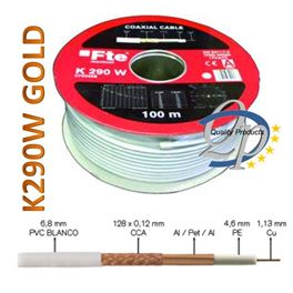 Cable Coaxial 1.13Cu K290W Gold - K290WGOLD