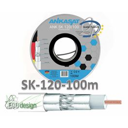 Cable Coaxial Blanco 100m SK120 - CAB-KAB027