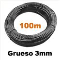 Rollo cable vientos 3mm 100m - ANT-2006